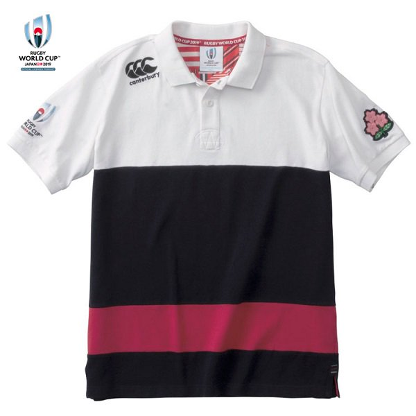 <img class='new_mark_img1' src='https://img.shop-pro.jp/img/new/icons14.gif' style='border:none;display:inline;margin:0px;padding:0px;width:auto;' />【カンタベリー】RWC2019 ショートスリーブ ラガーポロ
