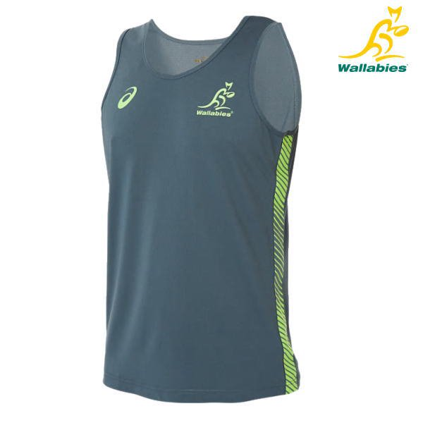 【オーストラリア代表】ワラビーズ[Wallabies] 2019 トレーニングスリーブレス レプリカ