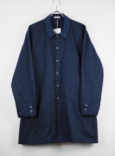 30%OFF[YOTATOKI] PAISLEY JACUARD COACH COAT -NAVY-
