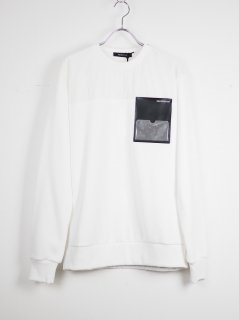 [PORTVEL] PULLOVER SWEAT SHIRT -WHITE-