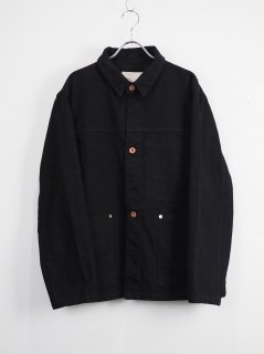 [YOKOSAKAMOTO] DENIM WORK JACKET -OVERDYE BLACK-