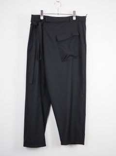 [PORTVEL] SAMUE PANTS -BLACK-