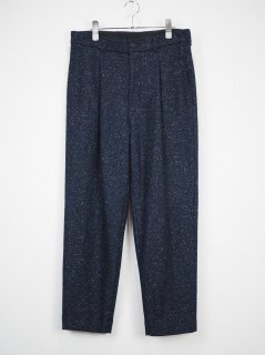 [URU] SILK NEP PANTS -NAVY-