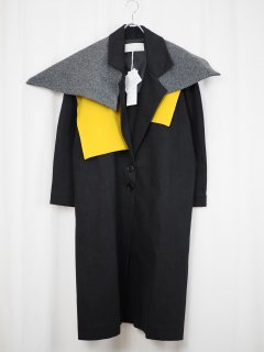 [NANCYSTELLASOTO] CAPELET DENIM COAT -BLACK-