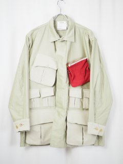 <img class='new_mark_img1' src='//img.shop-pro.jp/img/new/icons14.gif' style='border:none;display:inline;margin:0px;padding:0px;width:auto;' />[DIGAWEL] POCKET SHIRT JACKET -BEIGE-