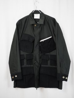 [DIGAWEL] POCKET SHIRT JACKET -BLACK-