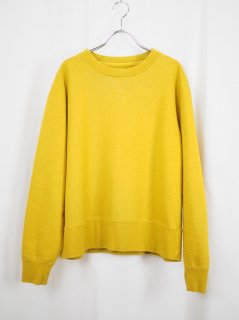 [YOKOSAKAMOTO] CREW NECK SWEATER -YELLOW-