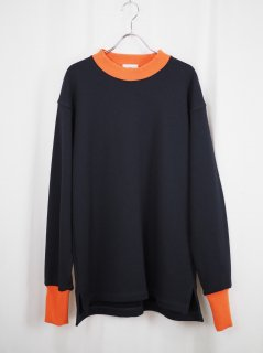 [YOTATOKI] SWEAT SHIRT -BLACK/ORANGE-