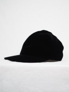 [KAMILAVKA] ADJUSTER CAP VELVET -BLACK-