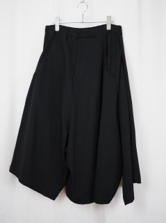 [RIDDLEMMA] THREE LEGS HARF PANTS -BLACK-