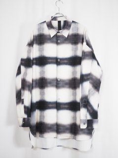[SHINYA KOZUKA] BLURRED CLASSIC SHIRT -BLURRED GINGHAM-