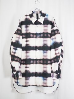 [SHINYA KOZUKA] BLURRED CLASSIC SHIRT -MORE BLURRED GINGHAM-