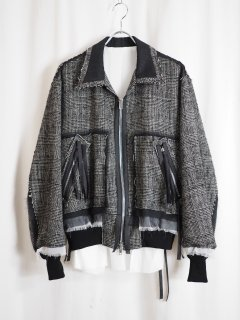 <img class='new_mark_img1' src='//img.shop-pro.jp/img/new/icons14.gif' style='border:none;display:inline;margin:0px;padding:0px;width:auto;' />[MIDORIKAWA] BLOUSON -CHECK-