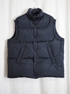[URU] NYLON SILK DOWN VEST -NAVY-