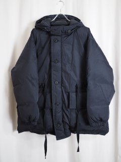 [URU] NYLON SILK DOWN BLOUSON -NAVY-