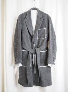 [MIDORIKAWA] COAT -GRAY-