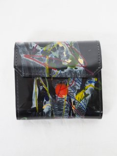 [MACROMAURO] BLACK PAINT WALLET P -A-