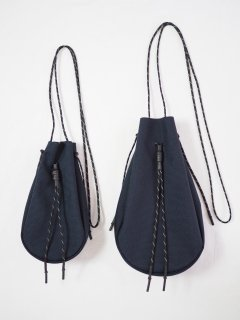 [吉岡衣料店] DRAWSTRING BAG L -D.NAVY-
