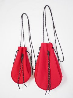 [吉岡衣料店] DRAWSTRING BAG L -RED-