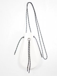 [吉岡衣料店] DRAWSTRING BAG S W/CONCHO -WHITE-