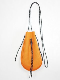[吉岡衣料店] DRAWSTRING BAG S -ORANGE-