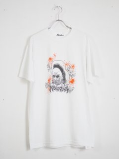 [MIDORIKAWA] Divine S/S TEE -WHITE/ORANGE-