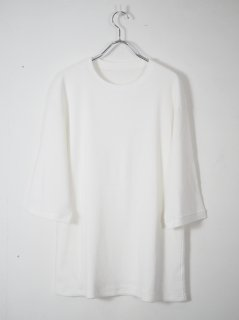 [着もちいい服] F/W FACE M/S THERMAL T-SHIRT -WHITE-