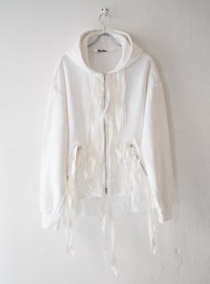 [MIDORIKAWA] ZIPUP SWEAT PARKA -WHITE-