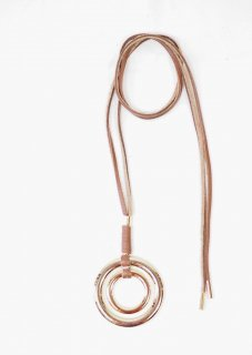 [ANEI] W RING NECKLES -GOLD-