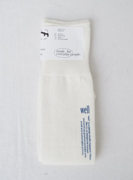 [well] FREE SIZE TUBE SOCKS -WHITE-