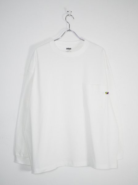 <img class='new_mark_img1' src='https://img.shop-pro.jp/img/new/icons14.gif' style='border:none;display:inline;margin:0px;padding:0px;width:auto;' />[IS-NESS] HW LONG SLEEVE POCKET T-SHIRT -WHITE-