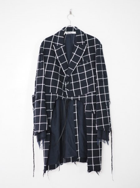 <img class='new_mark_img1' src='https://img.shop-pro.jp/img/new/icons14.gif' style='border:none;display:inline;margin:0px;padding:0px;width:auto;' />[MIDORIKAWA] CHECK JACKET -NAVY-