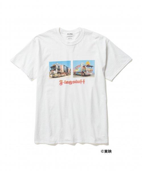 [F-LAGSTUF-F] × トラック野郎 TEE STYLE4 -WHITE-