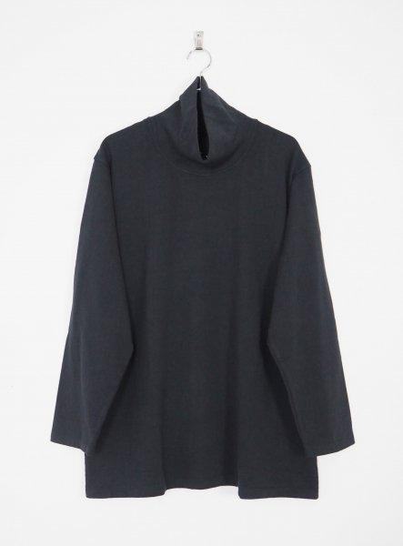 [YOKOSAKAMOTO] HIGH NECK L/S T-SHIRT -BLACK-