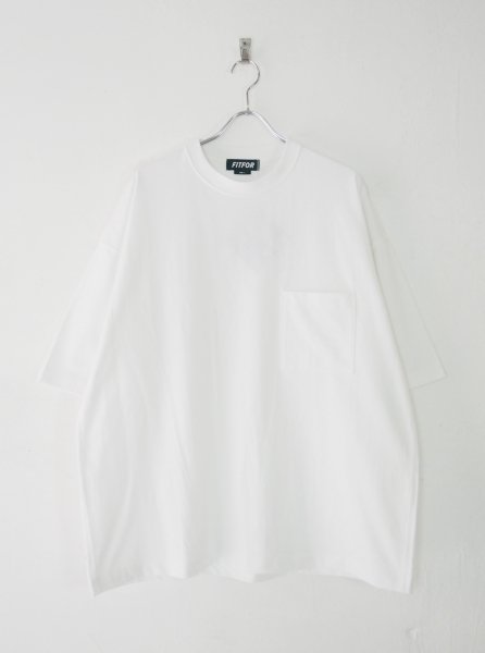 <img class='new_mark_img1' src='https://img.shop-pro.jp/img/new/icons14.gif' style='border:none;display:inline;margin:0px;padding:0px;width:auto;' />[FITFOR] WIDE BOX TEE -WHITE-