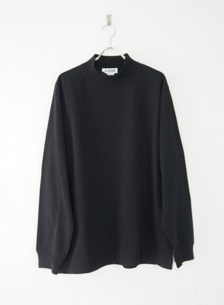 <img class='new_mark_img1' src='https://img.shop-pro.jp/img/new/icons14.gif' style='border:none;display:inline;margin:0px;padding:0px;width:auto;' />[FITFOR] MOCK NECK LONG SLEEVE TEE -BLACK-