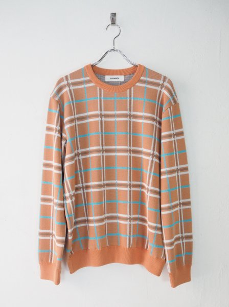 <img class='new_mark_img1' src='https://img.shop-pro.jp/img/new/icons14.gif' style='border:none;display:inline;margin:0px;padding:0px;width:auto;' />[DIGAWEL] KNIT & SEWN CHECK SWETER -RED-