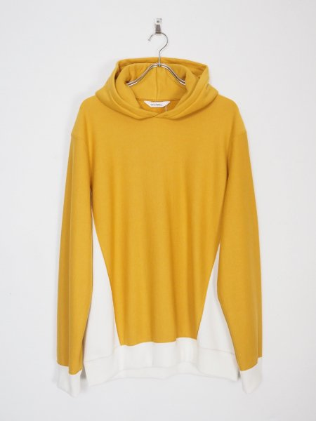 <img class='new_mark_img1' src='https://img.shop-pro.jp/img/new/icons14.gif' style='border:none;display:inline;margin:0px;padding:0px;width:auto;' />[DIGAWEL] REVERSE WEAVE HOODIE -MUSTARD-