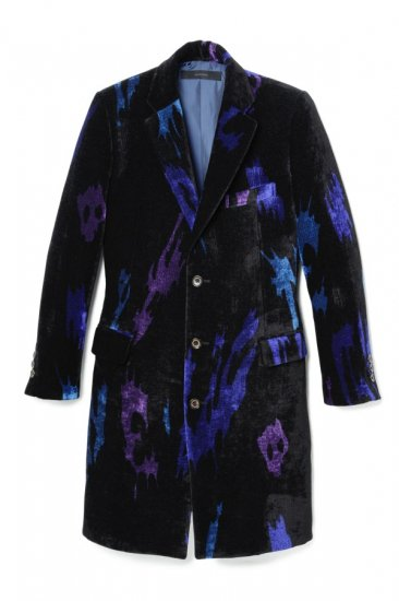 VELVET WOOL NEEDLE PUNCH CHESTER COAT