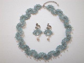 ◆tatting lace necklace