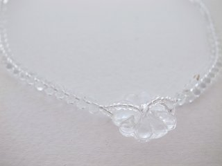 ◆flower glass necklace