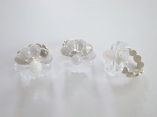 ◆flower glass ring
