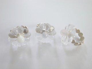 ◆flower glass ring