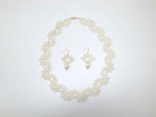 ◆tatting lace necklace