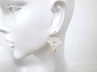 ◆tatting lace pierce earring