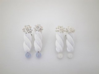 ◆wood&glass pierce / earring