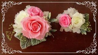 結婚式用の髪飾り色変更