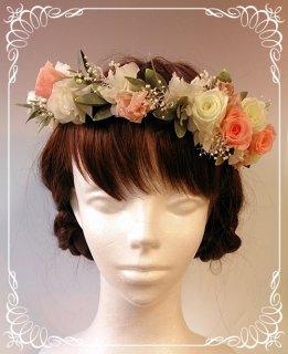 結婚式 プリザーブドフラワー 花冠