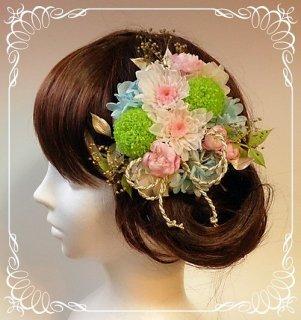 成人式用オーダーメイド 和装髪飾り ピンポンマム