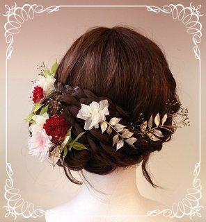 成人式用オーダーメイド 和装髪飾り